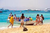 Trip to Al-Mahmya paradise island, Egypt — Stock Photo