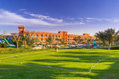 Cricket field at the tropical resort in Hurghada, Egypt — Stock Photo