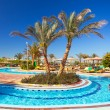 Swimming pool at tropical resort in Hurghada, Egypt — Stock Photo