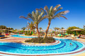 Swimming pool at tropical resort in Hurghada, Egypt — Stock Photo