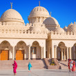 Beautiful architecture of Hurghada Marina Mosque in Egypt - Stock Photo