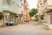 Streets of city center in Hurghada, Egypt — Stock Photo
