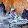 Bedouin village on desert in Egypt — Stock Photo