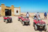 Quad trip on the desert near Hurghada — Stock Photo