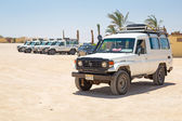 Jeep safari on the desert near Hurghada — Stock Photo
