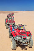 Quad trip on the desert near Hurghada — Stock Photo