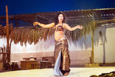 Egyptian belly dancer at performance — Stock Photo
