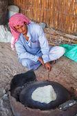 Beduínské vesnice na poušti v egyptě — Stock fotografie