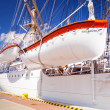 "Polish maritime museum ship ""Dar Pomorza"" at the Baltic Sea — Stock Photo #25676897"