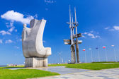 Joseph Conrad monument in Gdynia at Baltic Sea — Stock Photo