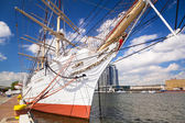"Polish maritime museum ship ""Dar Pomorza"" at the Baltic Sea — Stock Photo"
