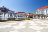 Square in Sopot with beautiful architecture — Stock Photo