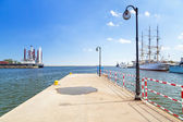 Pier at the Baltic Sea in Gdynia — Stock Photo