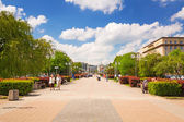Square in Gdynia in sunny day, Poland — Stock Photo