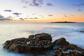 Idyllic sunset over Atlantic ocean — Stock Photo