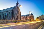 Kościół w limerick miasto nocą — Zdjęcie stockowe