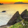 Stock Photo: Sunset over Dunquin bay on Dingle Peninsula