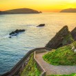 Sunset over Dunquin bay on Dingle Peninsula — Stock Photo #26305861