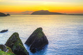 Sunset over Dunquin bay on Dingle Peninsula — Stock Photo