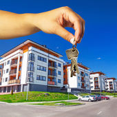 Keys to new apartment — Stockfoto