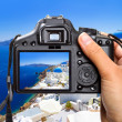 Vacations in Greece with the camera — Stok fotoğraf