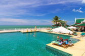 Scenery of swimming pool at Andaman Princess Resort & SPA — Stock Photo