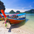 Long tail boats on the coast of Andaman sea — Stock Photo #26868863