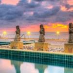 Sunset at swimming pool — Stock Photo #26872191