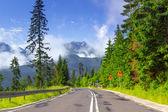 Empty road in Tatra mountains — Stock Photo