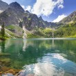 Stock Photo: eye of the sea lake in tatra mountains