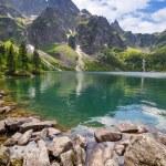 oko na morze jezioro w Tatrach — Zdjęcie stockowe