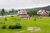 Traditional wooden village in Tatra mountains — Stock Photo