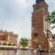 Main square of the old town in Cracow — Stock Photo