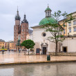 Main square of the old town in Cracow — Stock Photo #28936281