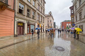 Main market square of the Old Town in Krakow, Poland — Stock Photo
