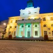 Stock Photo: City hall of old town in Lublin at night