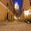 Old town of Lublin at night — Stock Photo