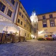 Stock Photo: Old town of Lublin at night