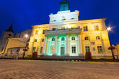 City hall of the old town in Lublin at night — Stock Photo