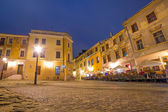 Lublin old town at night, Poland — Stock Photo