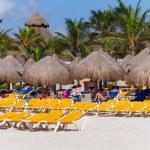 Playacar beach at Caribbean Sea in Mexico — Stock Photo #29789673