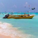 Playacar beach at Caribbean Sea in Mexico — Stock Photo #29789769
