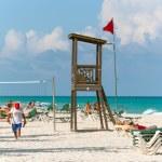 Playacar beach at Caribbean Sea in Mexico — Stock Photo #29789791
