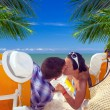 Holidays on the beach of Caribbean Sea — Stock Photo