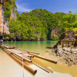 Stock Photo: Bamboo raft in Phang Ngbay