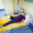 Man lying in hospital after surgery — Stock Photo