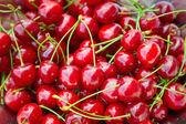 Doces cerejas vermelhas — Fotografia Stock