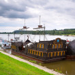 Ancient criuse ship on the Vistula river — ストック写真