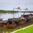 Stock Photo: Ancient criuse ship on Vistulriver