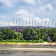 National Stadium in Warsaw at the Vistula river, Poland — Stock Photo #30564239